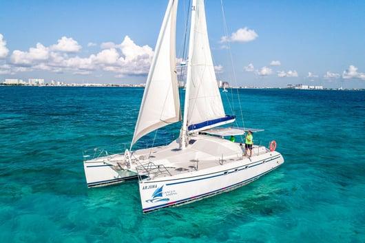 3 - HiRes - Arjuna - Isla Mujeres Catamaran Tour - Cancun Sailing