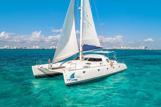 4 - HiRes - Manta - Isla Mujeres Catamaran Tour - Cancun Sailing