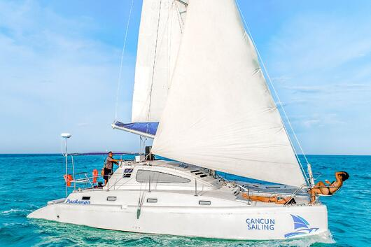 1 - HiRes - Pachanga - Private Isla Mujeres catamaran tour - Cancun Sailing